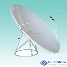 KU band big satellite dish antenna 8 feet/offset satellite dish 240CM/ steel panel/ ground mount KU-45-I