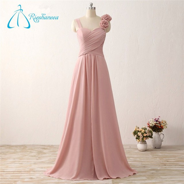 2017 Criss-Cross Chiffon Fat Long Bridesmaid Dress Patterns