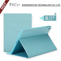 2016 new design fashion simple pure color tablet leather case folio flip back cover case for ipad 6 wholesale