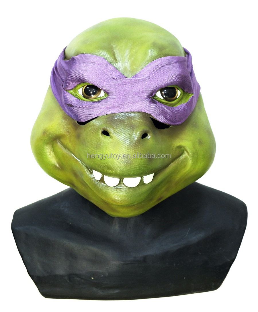 Carnival Props Party Animal Head Costume Latex Ninja Turtle Mask for Masquerade