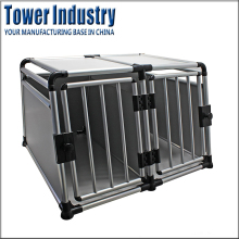 Portable Aluminium Dog Carrier Kennel Cage Pet Transport Car Cages for Sale