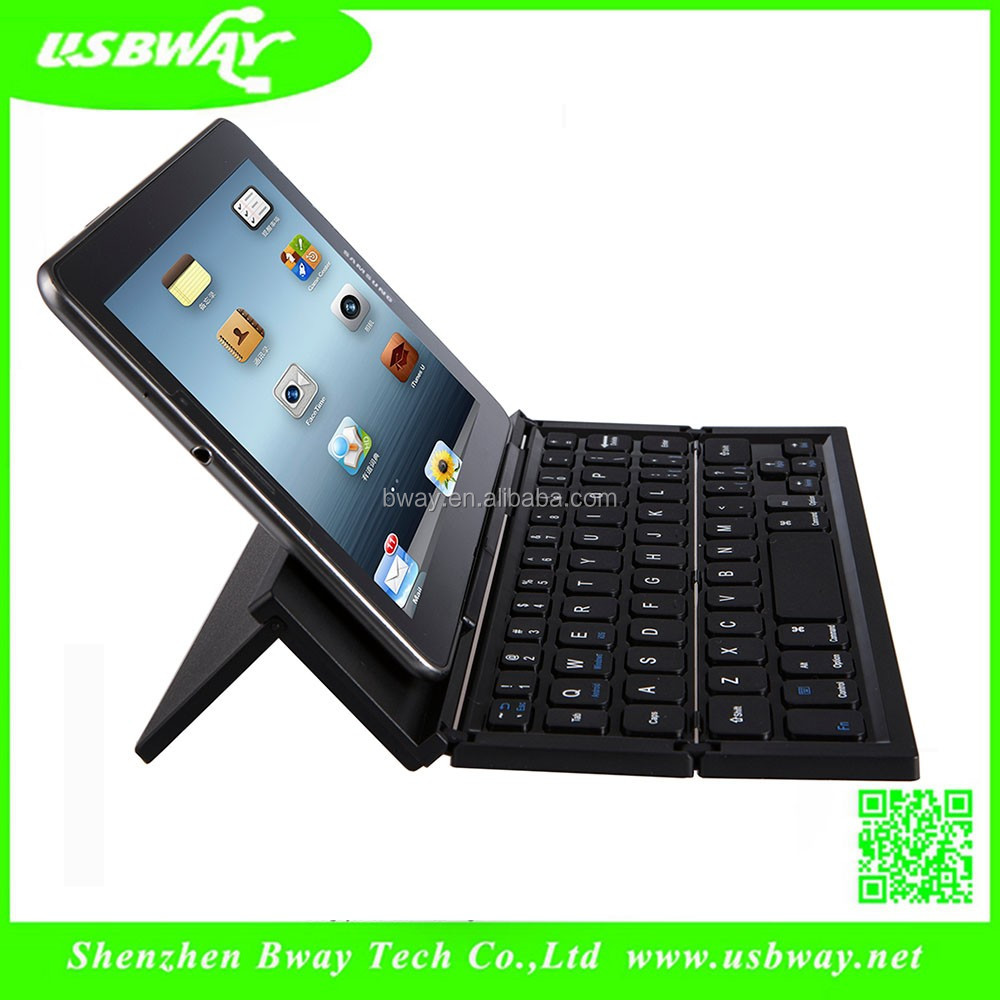 Bluetooth Foldable pocket Keyboard with stand and BQB certificate