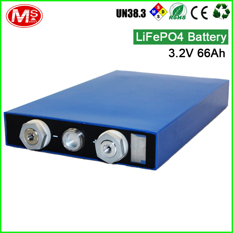 High capacity 3.2V 66Ah rechargeable LiFePO4 battery UPS home energy storage