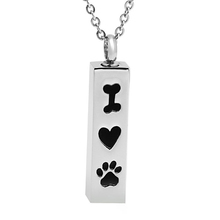 Discount !!! Marlary Pendant Wholesale Pet Urn Ash Keepsake Paw Print Cremation Jewelry
