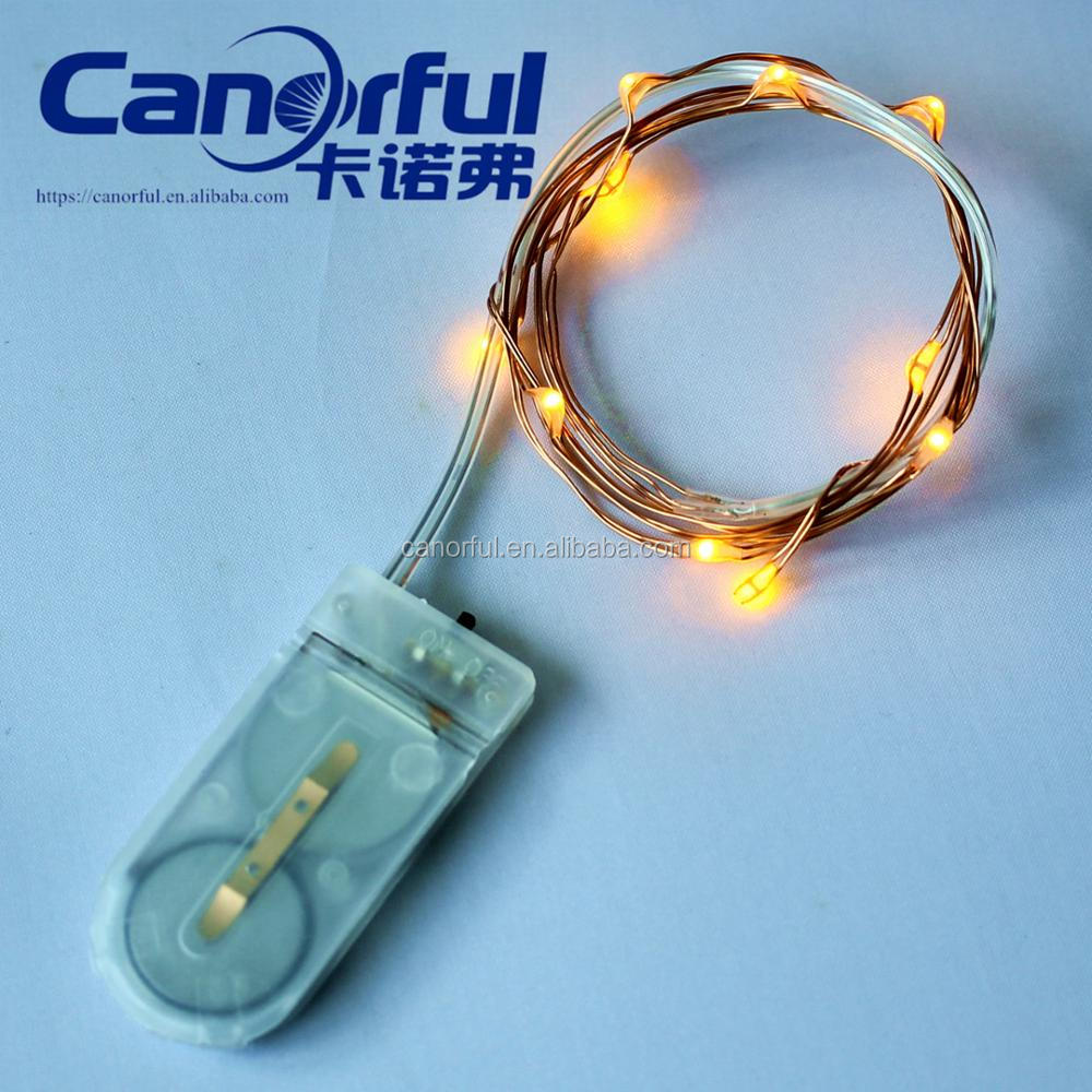 old fashion outdoor/indoor LED Christmas cell button battery wire string light decoration