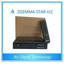 DVB T2 FTA set top box zgemma-star h2 twin tuner dvb-s2 hybrid dvb-c/t2 enigma 2 satellite receiver no dish