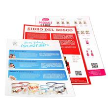 Cheap bulk customized full color a4 flyer printing with fast delivery service