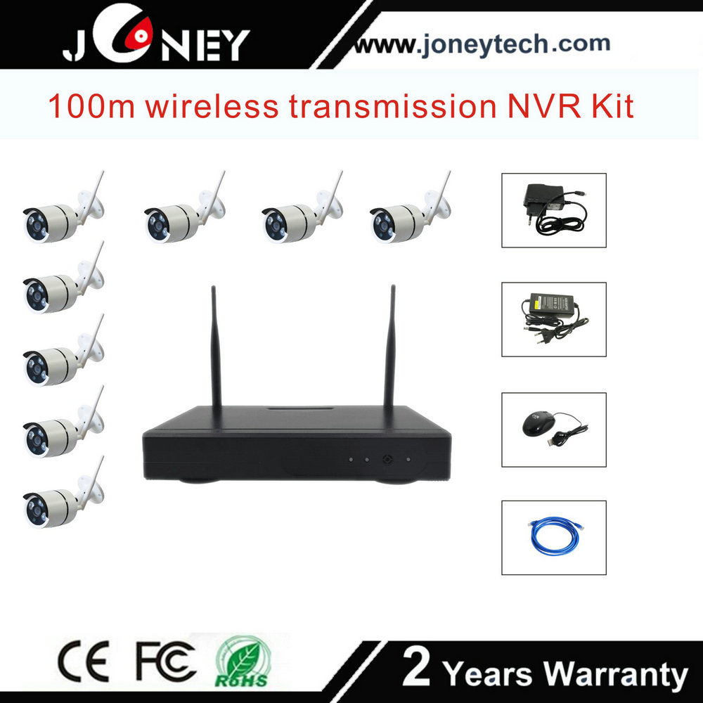 Wifi CCTV NVR Kit 8 Channel 960p Wireless Surveillance Safety Ip Camera Kit System