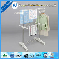 multi-layer pvc round rotating clothes rack
