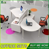 Elegant style office staff tables, special design computer desks