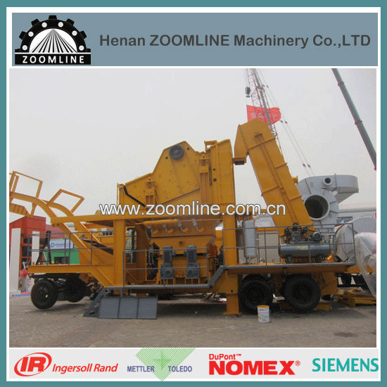80T/H mobile mini asphalt plant