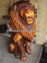 wooden lions