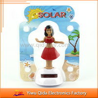 factory direct sale colorful hula skirt eco-friendly solar powered dancing toy