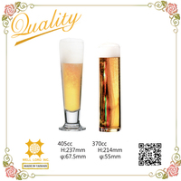 International style pilsner and stange beer glass