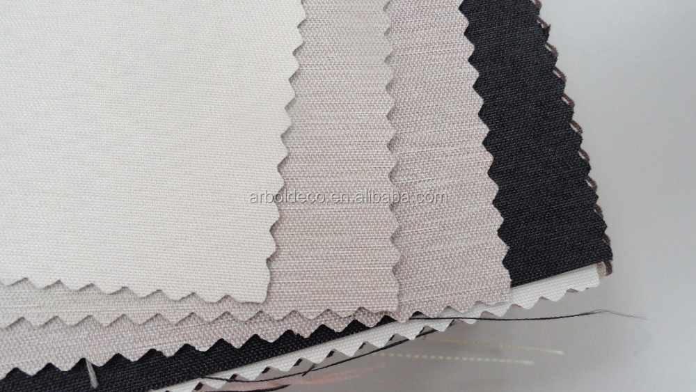 Eco Friendly high quality PVC 100% BLACKOUT ROLLER BLIND FABRIC