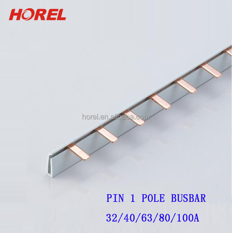 Copper Busbar Pin Type MCB Conductor busbar 80a