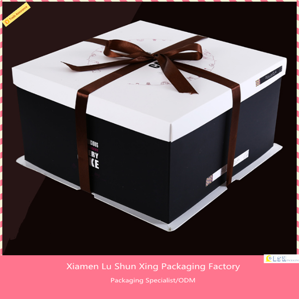 China Factory Free Sample free design pizza box , cake box , custom paper food packaging