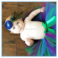 Hot sale baby girls peacock feather headband wholesale in stock