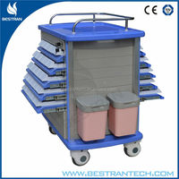 CE Double Sider Trays hospital abs medical surgery trolley
