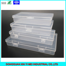 Rectangle PP plastic box with hinged lid