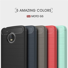 Customize Case For Moto G5,Back Cover Brushed Carbon Fibre TPU Back Cover Case For Moto G5 Plus