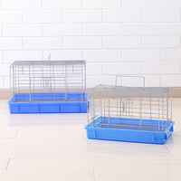 Heightening small castle stainless steel multi-functional pet cages rabbit cages