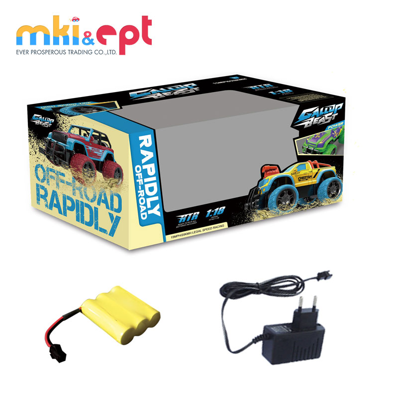 Factory Price Cross Country Remote Control Electric Car Toys For Kids With Battery And Charger
