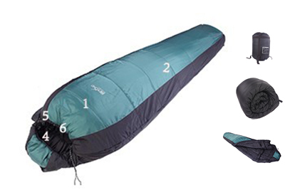Beyond outdoor MOUNTAIN VIEW -15 C. Sleeping Bag / 220x80cm 3D NEW style