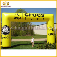 PVC square archway, yellow arch with logo, China inflatable arch