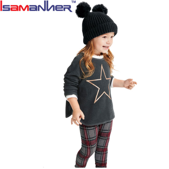 Wholesale custom design winter clothes sets imported childrens clothing