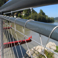 High Tensile & Durable Stainless Steel Brigde Security Cable Mesh