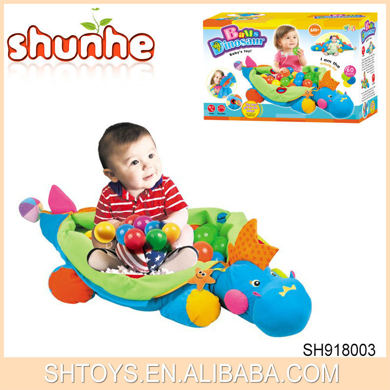 2015 News Kids Toy Balls Dinosaur Educatinal Soft Plush Toy Baby Crawl Mat