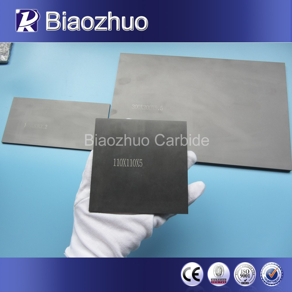 China solid tungsten carbide plate with high elastic modulus and compressive strength