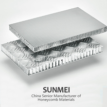 OEM Sumei Light weight PE coated 3003 aluminum honeycomb panel for ceiling/floor/partition/decorative wall