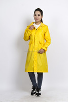 Hot sale Adult Long Waterproof PVC Raincoat breathable rain poncho