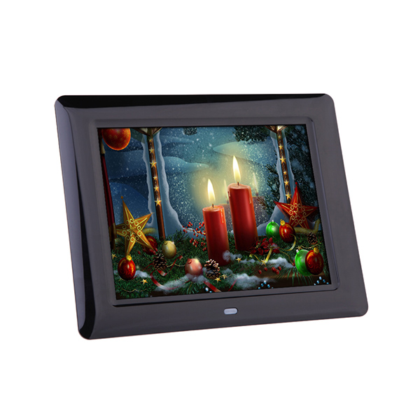 8 inch Multifunctional Digital Photo Frame 800*600 Support MP3/MP4 And SD Card