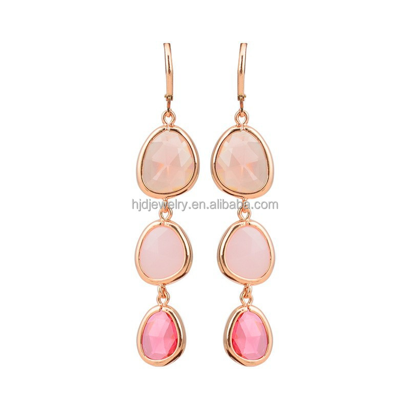 Fahion Design Wholesale Zinc Alloy crystal statement Earrings