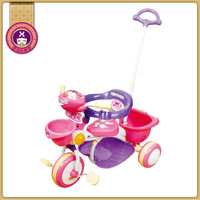 Comfortable Seat Girl 3 In One Big Wheel Tricycle For Kids