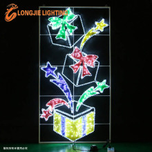 2.0m high led gift box pole decoration light/led Christmas decorating