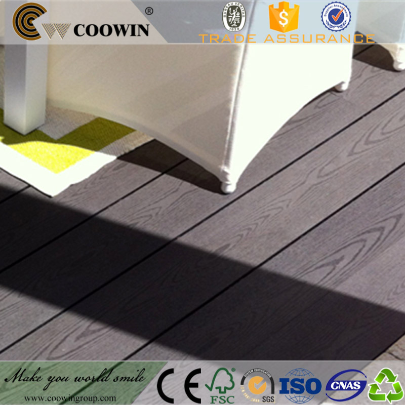 Outdoor terrace used WPC different types of decking