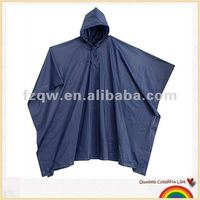Plastic waterproof navy and black poncho raincoat