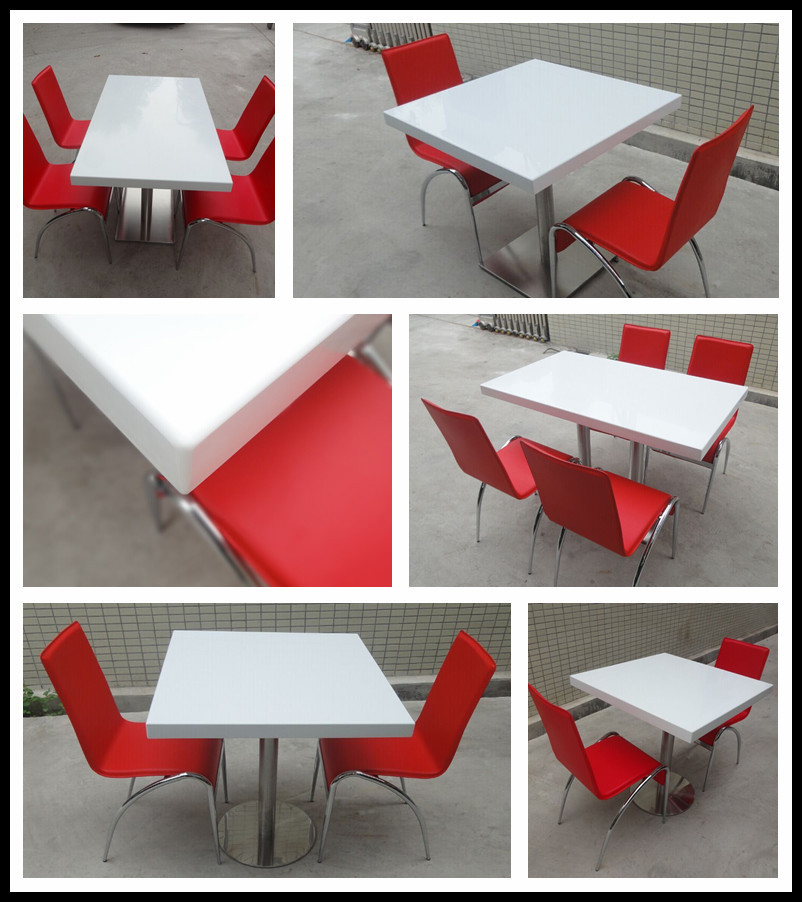 Cheap Restaurant Tables Chairs / Cafe Table Chair Set / Fast Food ...