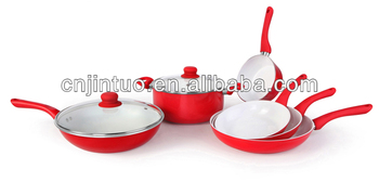 white ceramic coating cookware set