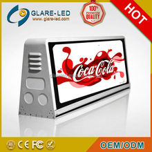 wireless system,3G,GPRS,GSM,SMS,WIFI,U DISK,USB,SD Taxi Top LED Display Panel