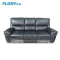 soft genuine leather recliner sofa 3+2+1