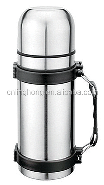2014 new style stainless steel travel pot with carry strap 500ml 750ml 1000ml