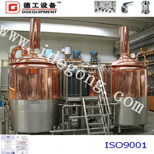 Beer machine for pub brewery,red copper home brewing/restaurant beer equipment