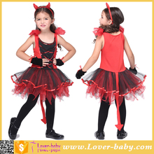 Girls Devil Tutu Dancing Devilina Halloween Children Costume