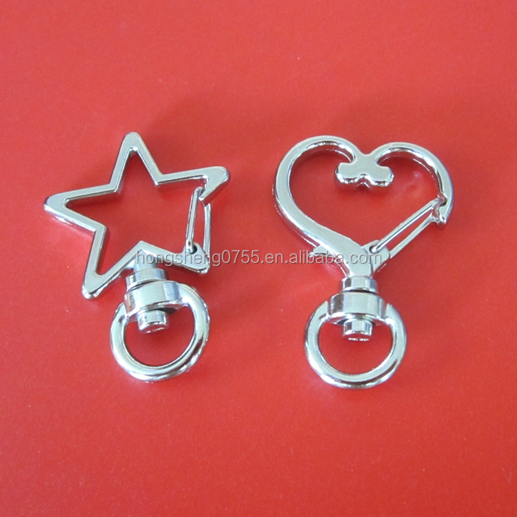 hot sale star shape small metal swivel snap hook for handbag