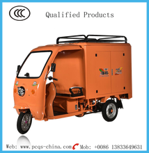 Express and delivery closed cargo box electric tricycle